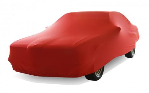 Auto afdekhoes stretch binnengebruik L rood