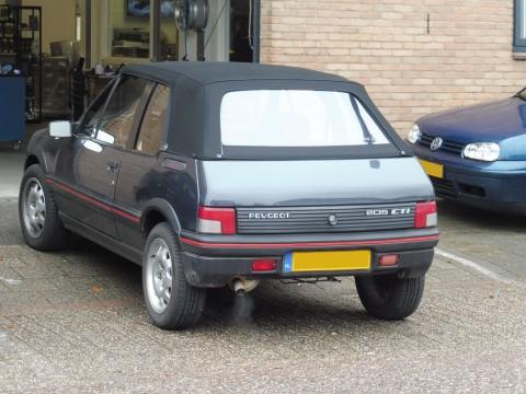 Peugeot 205 cabrio softtop Sonnenland A5 zwart