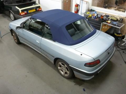 Peugeot 306 cabrio softtop Sonnenland A5 blauw (15)