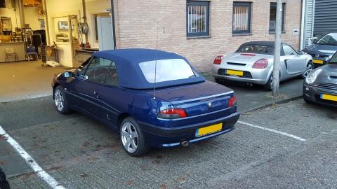 Peugeot 306 cabrio softtop Sonnenland A5 blauw (16)