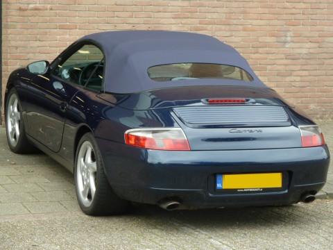 Porsche 996, softtop Sonnenland A5 blauw met glazen achterruit (4)