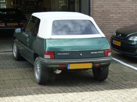 Peugeot 205 softtop vinyl wit