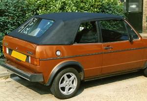 Cabriokap VW Golf I vinyl zwart