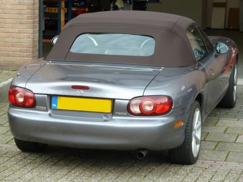 Softtop Mazda MX5 NB stof bruin, glazen verw. ruit