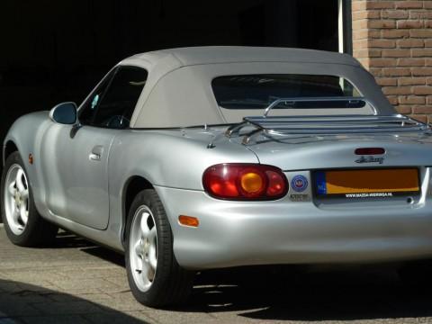 Softtop Mazda MX5 NB stof grijs, glazen verw. ruit