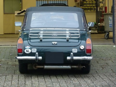 Softtop MG Midget MKIII vinyl zwart 1970-1980
