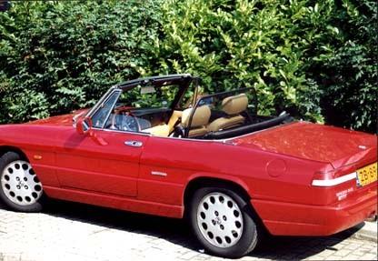 Windscherm Alfa Spider 1970-1993