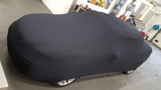 Auto afdekhoes stretch binnengebruik L zwart