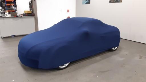 Auto afdekhoes stretch binnengebruik S blauw