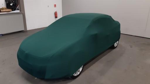 Auto afdekhoes stretch binnengebruik M groen
