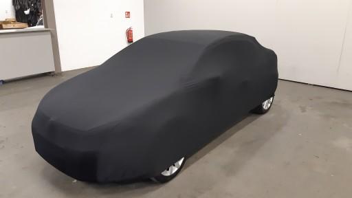 Auto afdekhoes stretch binnengebruik M zwart