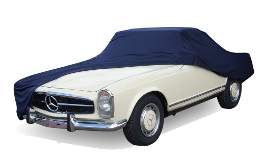 Afdekhoes (maathoes) Mercedes SL W113 blauw