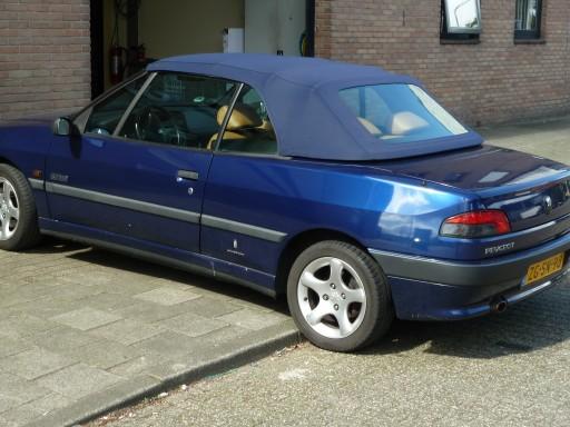 Cabriokap Peugeot 306 Sonnenland A5 blauw