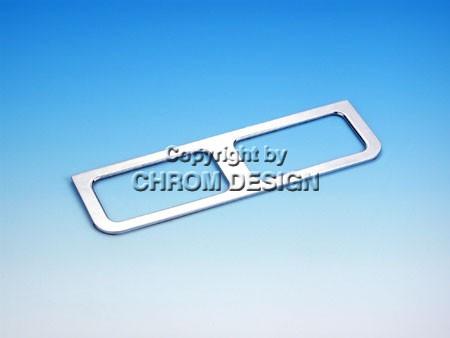 Afdekframe dubbele schakelaar bestuurder (chroom)