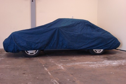 Auto afdekhoes binnengebruik blauw XL