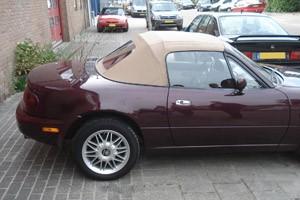 Cabriokap Mazda MX5 NA   vinyl beige pvc ruit,rits