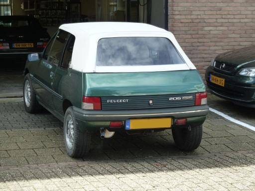Cabriokap Peugeot 205 vinyl wit, incl. achterruit