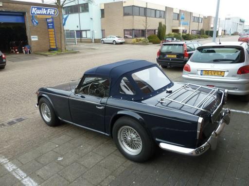 Cabriokap Triumph TR4a Stayfast blauw