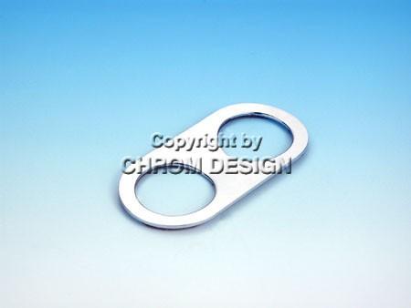 Frameplaatje voor alarmlichtenschakelaar (chroom)