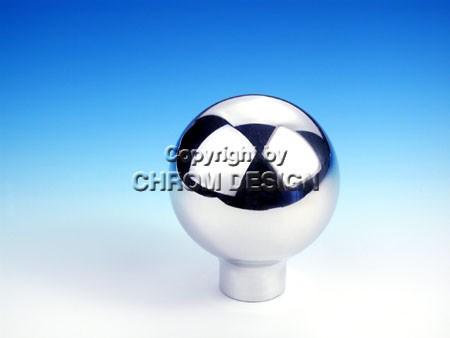 Pookknop kogelvorm (chroom)