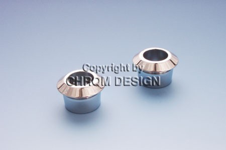 Ringen deurpinnen, set van 2 (zilver geëloxeerd)