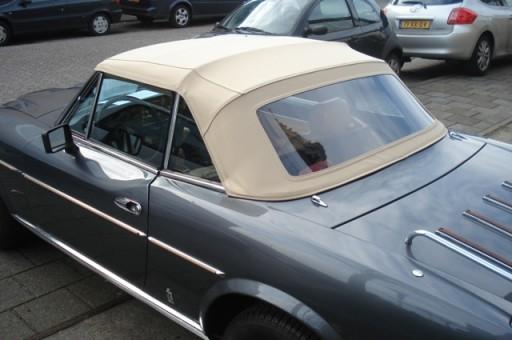 Softtop Fiat 124 Spider CS2 beige Sonnenland