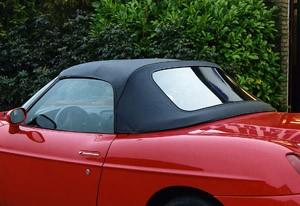 Softtop Fiat Barchetta zwart PVC met PVC ruit
