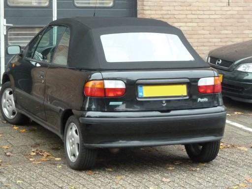 Softtop Fiat Punto Sonnenland A5 zwart