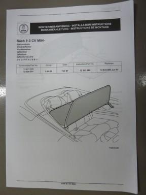 Windscherm tas Saab 9-3 2004-2011 origineel