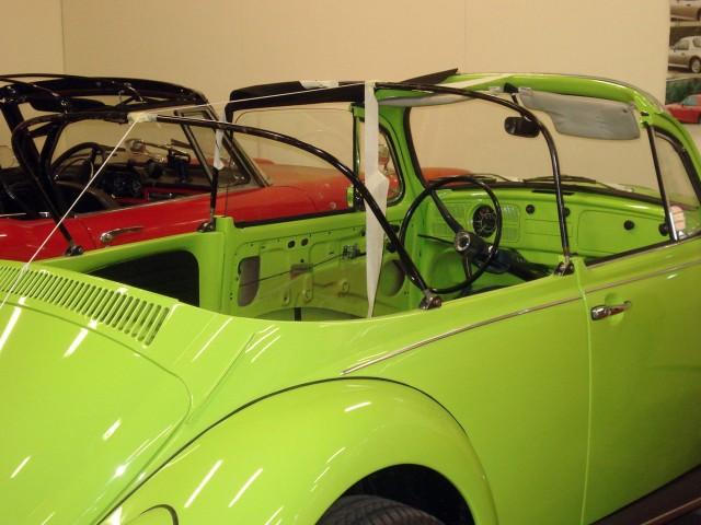 VW Kever omgebouwd, cabriokapframe