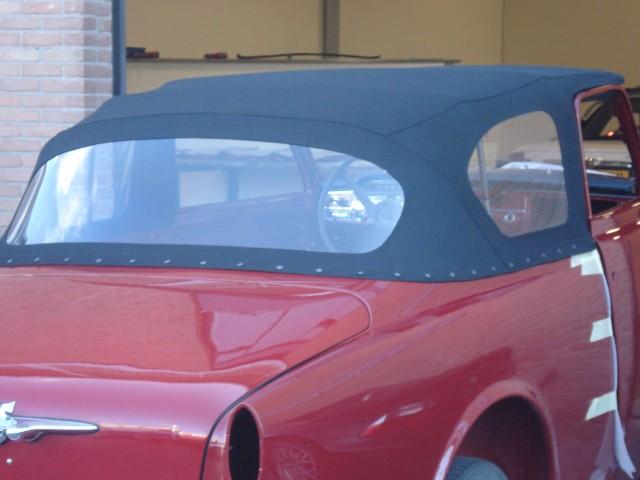 Volvo Cabrio, eigenbouw klant, cabriokap Sonnenland Classic zwart