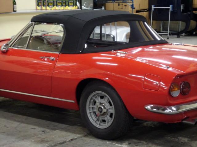 Fiat Dino Spider, cabriokap Sonnenland Classic zwart