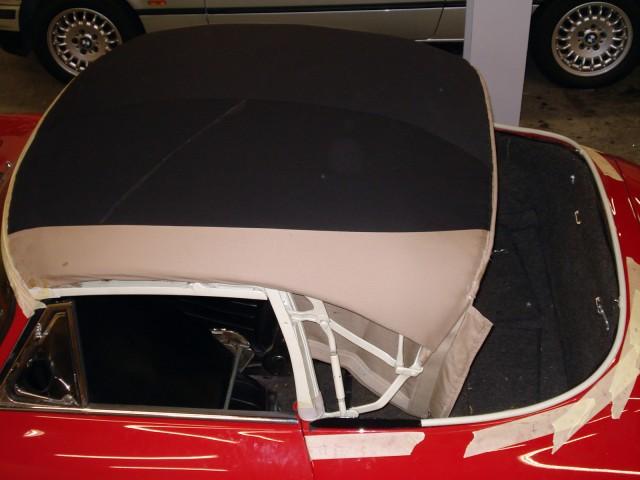 Cabriokapframe Porsche 356C