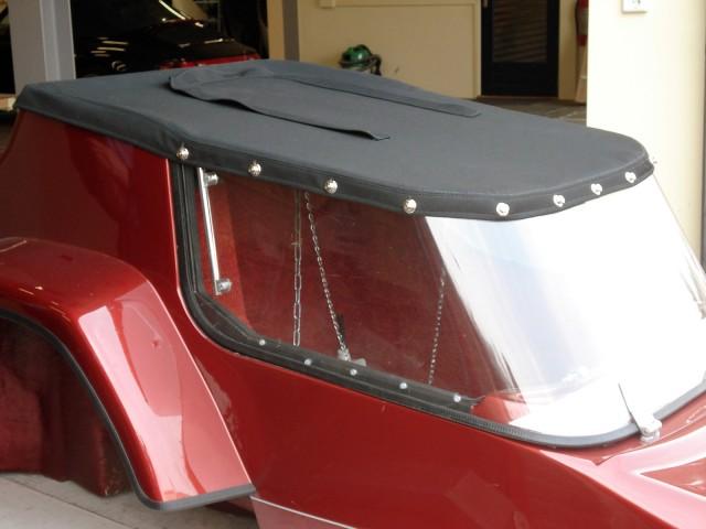 Motorzijspan, kap van Sonnenland Classic zwart