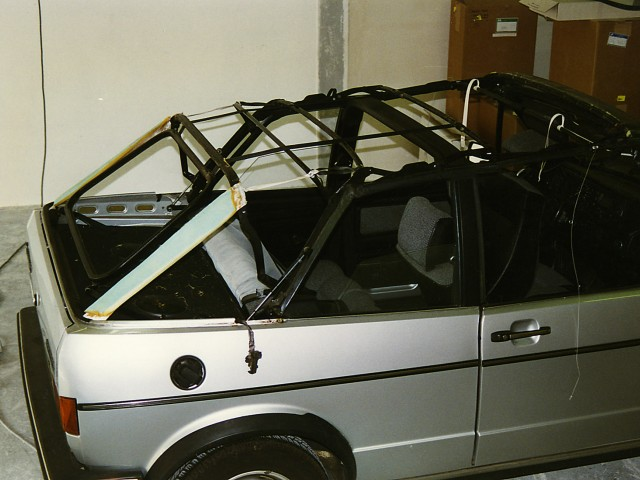 VW Golf I cabriokapframe