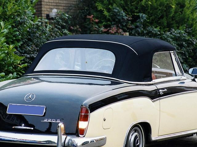 MercedesPonton Cabriolet, cabriokap Sonnenland Classic zwart