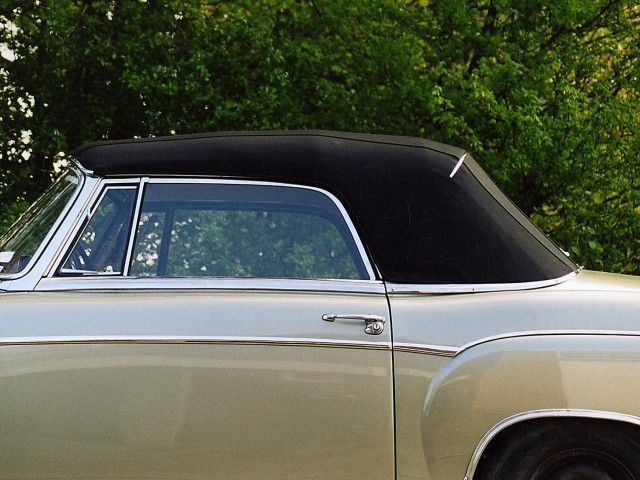 Mercedes Ponton cabriolet, binnenhemel woldoek,cabriokap Sonnenland Classic zwart