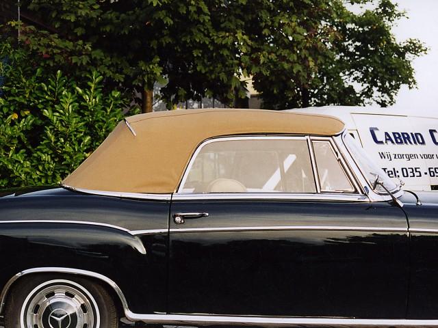 Mercedes Ponton Cabriolet, binnenhemel woldoek,cabriokap Sonnenland Classic beige