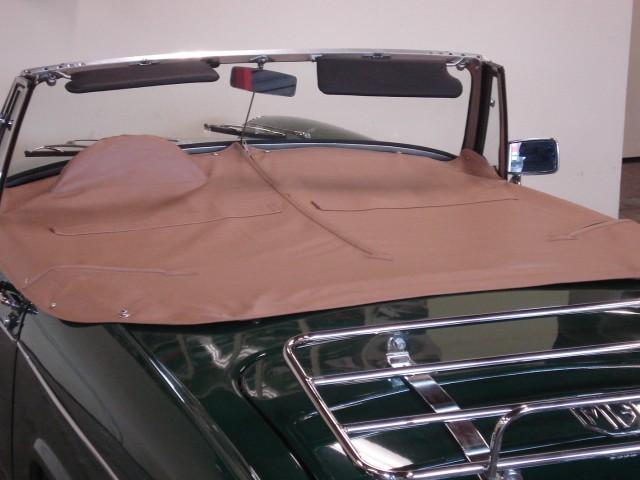 MG Midget tonneau vinyl