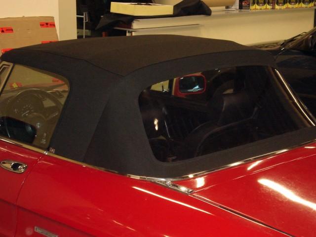 Alfa Romeo Spider / Cabrioletkap stof zwart
