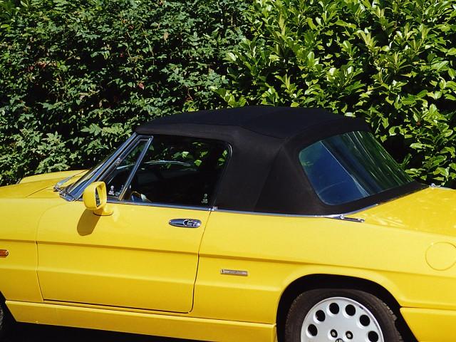 Alfa Romeo Spider 1992 / Softtop Twillfast zwart
