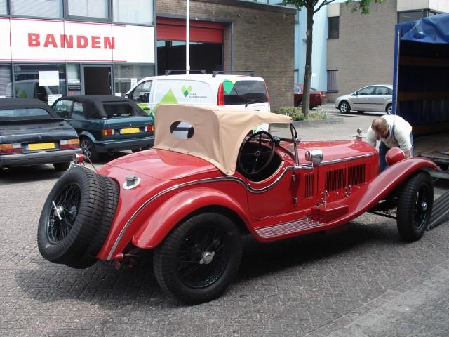 Alfa Romeo 1750 Zagato 1931 / Cabrioletkap oude Italiaanse stof beige