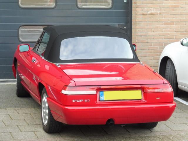 Alfa Romeo Spider, softtop Sonnenland A5 zwart (10)