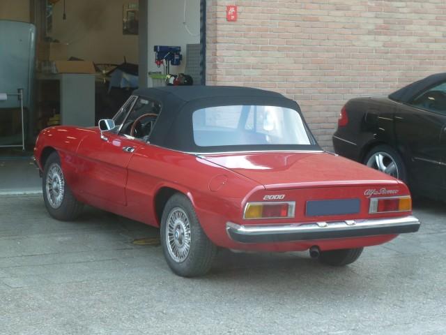 Alfa Romeo Spider, softtop Sonnenland A5 zwart (17)