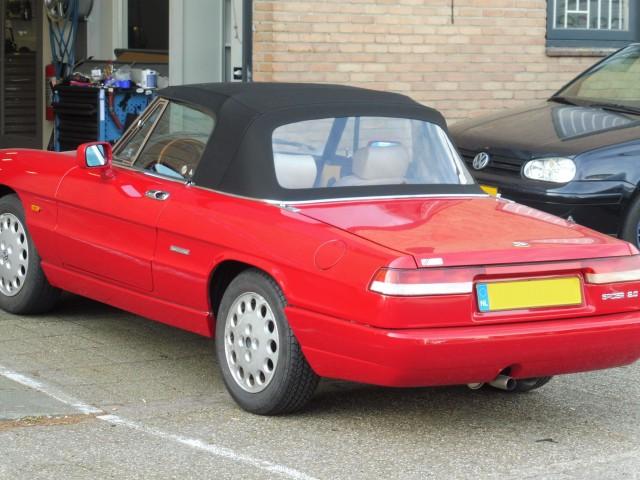 Alfa Romeo Spider softtop Sonnenland A5 zwart (8)