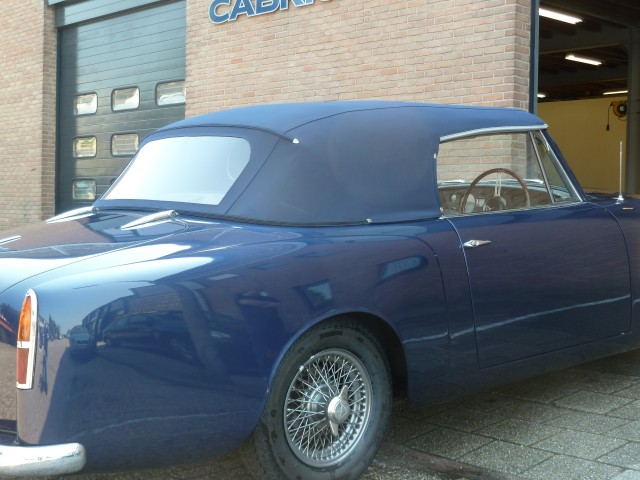 Alvis TE21 Drophead Coupe / softtop taylormade Sonnenland Classic blauw