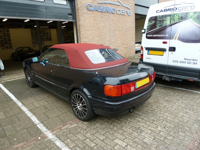 Audi Cabrio, softtop Sonnenland A5 rood