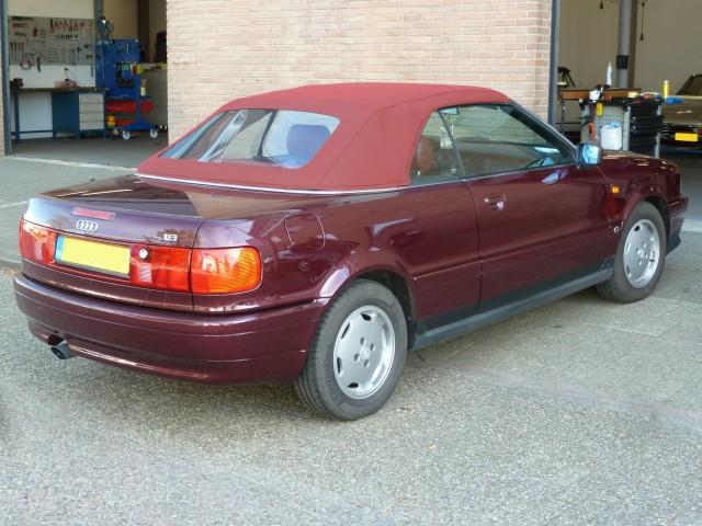 Audi Cabrio, softtop Sonnenland A5 rood (3)