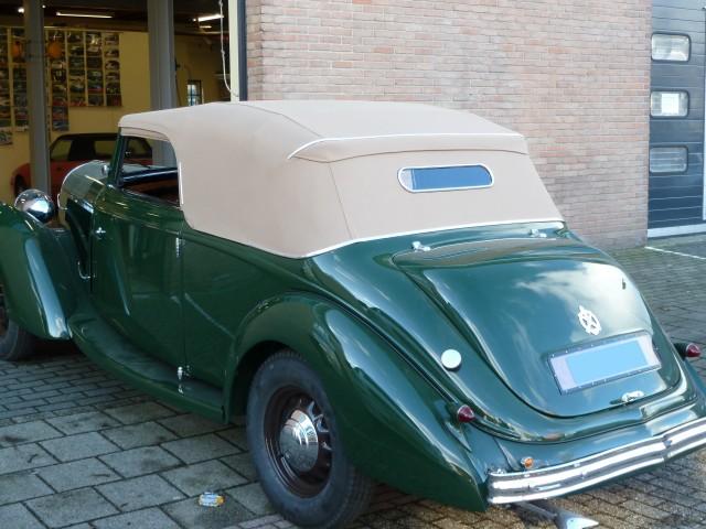 Hotchkiss 1934, cabrioletkap Sonnenland Classic beige (23)