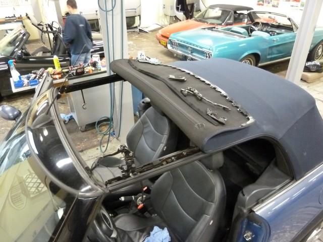 New Mini R52 verwijderen van kapotte onderdelen